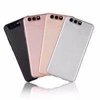 Матовый чехол для Huawei P10 с текстурированной поверхностью под карбон