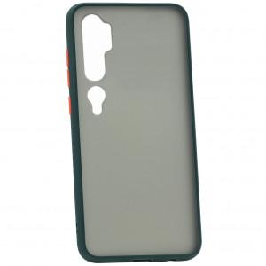 Противоударный матовый полупрозрачный чехол для Xiaomi Mi Note 10 (Pro) / CC9 Pro