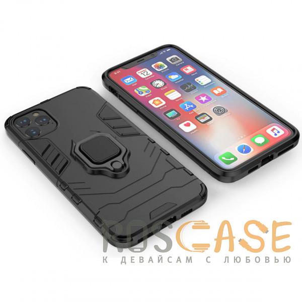 Фотография Черный Transformer Ring   Противоударный чехол под магнитный держатель для iPhone 12 Pro Max