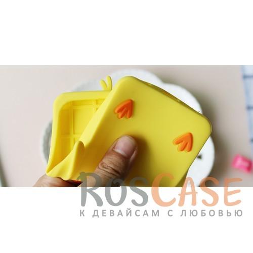 """Фотография Желтый Объемный чехол для Meizu U20 в виде игрушки """"Утенок"""" со шнурком"""