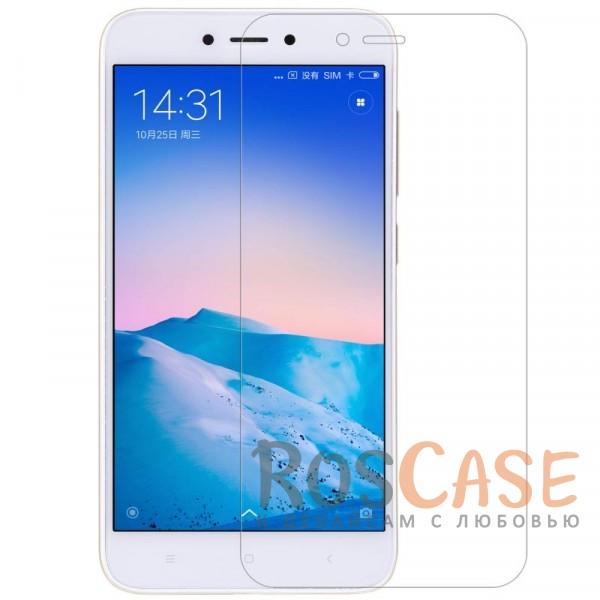 Антибликовое защитное стекло с олеофобным покрытием анти-отпечатки для Xiaomi Redmi 5AОписание:совместимо с Xiaomi Redmi 5A;материал: закаленное стекло;прочное;ультратонкое - 0,33 мм;защищает от царапин и ударов;разработано с учетом особенностей экрана гаджета.<br><br>Тип: Защитное стекло<br>Бренд: Nillkin