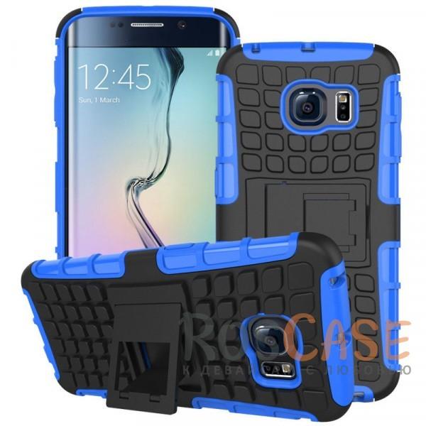 Противоударный двухслойный чехол Shield для Samsung G925F Galaxy S6 Edge с подставкой (Синий)Описание:разработан специально для Samsung G925F Galaxy S6 Edge;материалы: поликарбонат, термополиуретан;тип: накладка.&amp;nbsp;Особенности:двухслойный;ударопрочный;оригинальный дизайн;стильный дизайн;в наличии все функциональные вырезы;функция подставки.<br><br>Тип: Чехол<br>Бренд: Epik<br>Материал: TPU