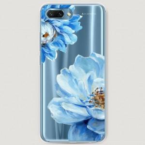 RosCase | Силиконовый чехол Голубые клематисы на Huawei Honor 10