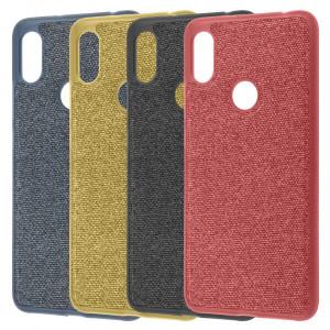 Fiber Logo | TPU чехол с текстильным покрытием  для Xiaomi Mi 8
