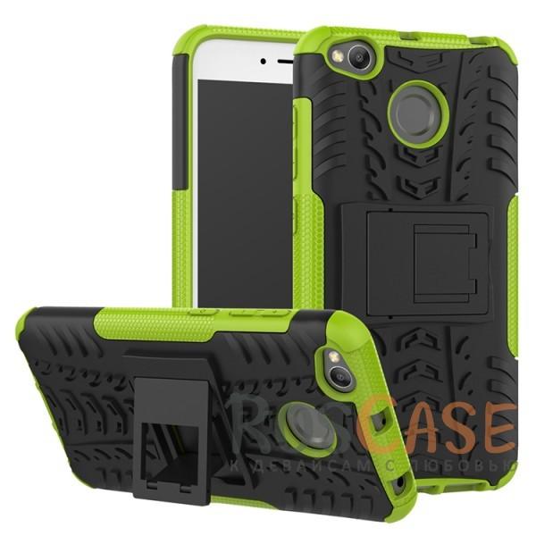 Противоударный двухслойный чехол Shield для Xiaomi Redmi 4X с подставкой (Зеленый)Описание:совместим с Xiaomi Redmi 4X;удобная функция подставки;материал - поликарбонат, термополиуретан;тип - накладка;ударопрочная конструкция;предусмотрены все необходимые вырезы;рельефная фактура.<br><br>Тип: Чехол<br>Бренд: Epik<br>Материал: TPU