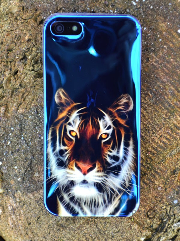"Фотография TPU чехол IMD Print ""Взгляд тигра"" для Apple iPhone 5/5S/SE"