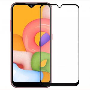 Защитное стекло 5D Full Cover  для Samsung Galaxy A01