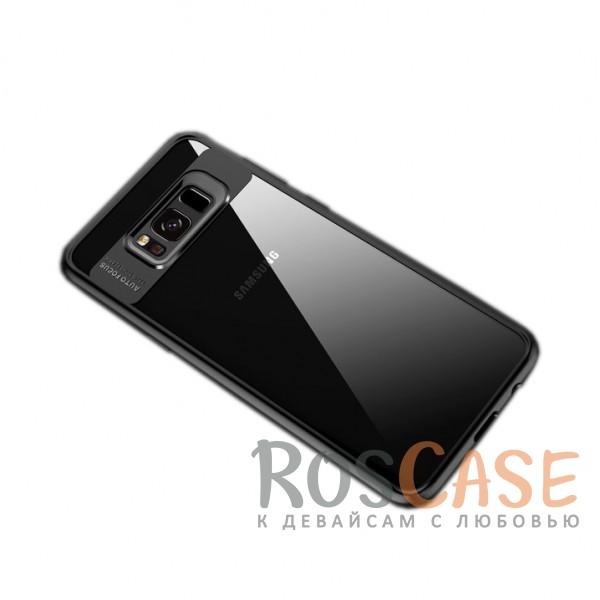 Прозрачный пластиковый чехол с антиударным бампером и защитой камеры для Samsung G955 Galaxy S8 Plus (Черный / Black)Описание:совместим с Samsung G955 Galaxy S8 Plus;производитель: ROCK;ультратонкий дизайн;защита задней панели и боковых граней;материал - TPU, пластик;тип - накладка;защищает от ударов и царапин;предусмотрены все необходимые функцильнальные&amp;nbsp;вырезы.<br><br>Тип: Чехол<br>Бренд: ROCK<br>Материал: Пластик