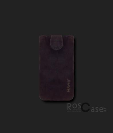 фото кожаный футляр Mavis Premium VELOUR 111x60/125x62 для iPhone 4G/4S