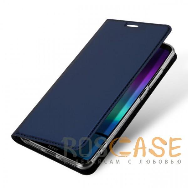 Фотография Синий Dux Ducis | Чехол-книжка для Huawei Honor Note 10 с функцией подставки и картхолдером