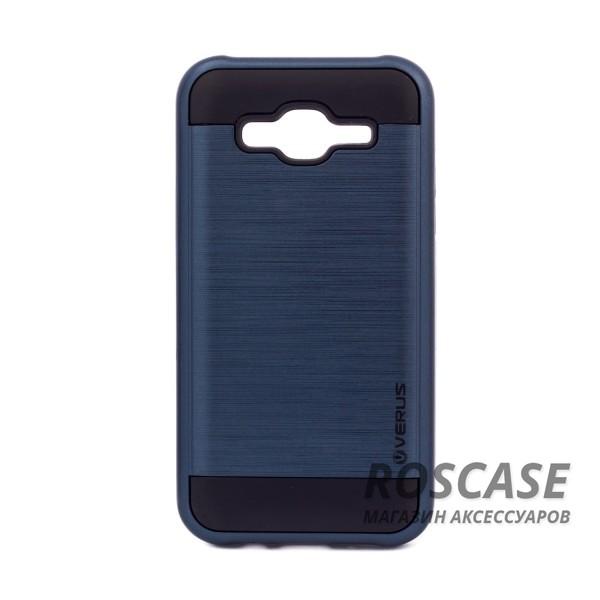 Двухслойный ударопрочный чехол с защитными бортами экрана Verge для Samsung J500H Galaxy J5 (Синий)Описание:совместимость  -  смартфон Samsung J500H Galaxy J5;материал для изготовления  -  поликарбонат, термопластичный полиуретан;тип изделия  -  чехол-накладка.Особенности:надежно фиксируется и трансформируется в подставку;имеет покрытие против пятен и отпечатков пальцев;не деформируется;имеет все функциональные вырезы;просто чистится от загрязнений.&amp;nbsp;<br><br>Тип: Чехол<br>Бренд: Epik<br>Материал: Пластик