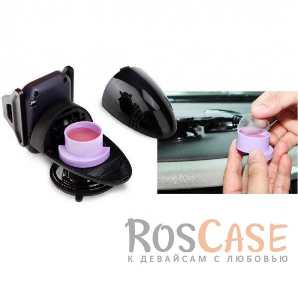 Изображение Комплект Автомобильное зарядное устройство LDNIO с 3 USB разъемами + Автодержатель для смартфона 3 - 5.3 дюйма на торпеду HR-S200 II