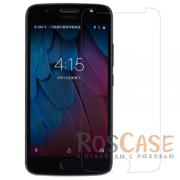 Прозрачная глянцевая защитная пленка на экран с гладким пылеотталкивающим покрытием для Motorola Moto G5S (XT1793)Описание:бренд&amp;nbsp;Nillkin;совместимость - Motorola Moto G5S (XT1793);материал: полимер;тип: прозрачная пленка;ультратонкая;не влияет на чувствительность экрана;защита от царапин и потертостей;фильтрует УФ-излучение;размер пленки -&amp;nbsp;142,3*66,2 мм.<br><br>Тип: Защитная пленка<br>Бренд: Nillkin