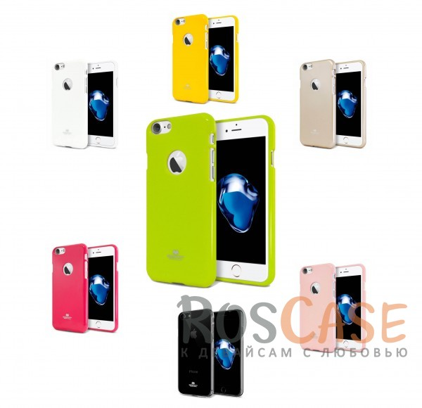 "Фото Mercury Jelly Pearl Color | Яркий силиконовый чехол для для Apple iPhone 7 / 8 (4.7"")"