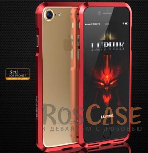 Алюминиевый бампер Luphie Blade Sword для Apple iPhone 7 (4.7) ( one color) (Красный)Описание:бренд -&amp;nbsp;Luphie;материал - алюминий;совместим с Apple iPhone 7 (4.7);тип - бампер.Особенности:усиливает звук;прочный алюминий;в наличии все вырезы;ультратонкий дизайн;защита граней от ударов и царапин.<br><br>Тип: Чехол<br>Бренд: Luphie<br>Материал: Металл