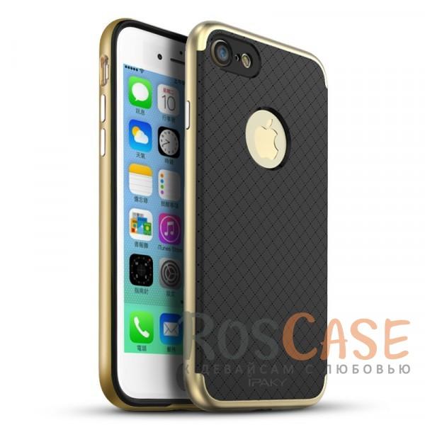 Двухкомпонентный чехол iPaky Hybrid (original) со вставкой цвета металлик для Apple iPhone 7 / 8 (4.7) (Черный / Золотой)Описание:производитель - iPaky;совместим с Apple iPhone 7 / 8 (4.7);материал: термополиуретан, поликарбонат;форма: накладка на заднюю панель.Особенности:эластичный;рельефная поверхность;прочная окантовка;ультратонкий;надежная фиксация.<br><br>Тип: Чехол<br>Бренд: iPaky<br>Материал: TPU