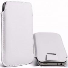 Кожаный чехол футляр с язычком для телефона 3.5-4.8 дюйма