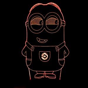 """Светодиодный 3D светильник-ночник с проекцией объемного изображения """"Миньон"""""""