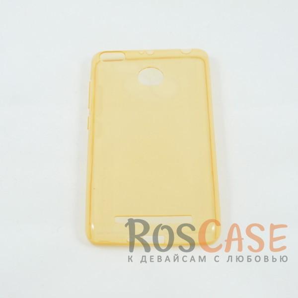 Ультратонкий силиконовый чехол Ultrathin 0,33mm для Xiaomi Redmi 3 Pro / Redmi 3s (Золотой (прозрачный))Описание:изготовлен компанией&amp;nbsp;Epik;разработан для Xiaomi Redmi 3 Pro / Redmi 3s;материал: термополиуретан;тип: накладка.&amp;nbsp;Особенности:толщина накладки - 0,33 мм;прозрачный;эластичный;надежно фиксируется;есть все функциональные вырезы.<br><br>Тип: Чехол<br>Бренд: Epik<br>Материал: TPU