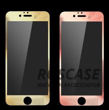 """Фото Цветное зеркальное стекло для Apple iPhone 6/6s (4.7"""") с 3D узором (двухстороннее)"""