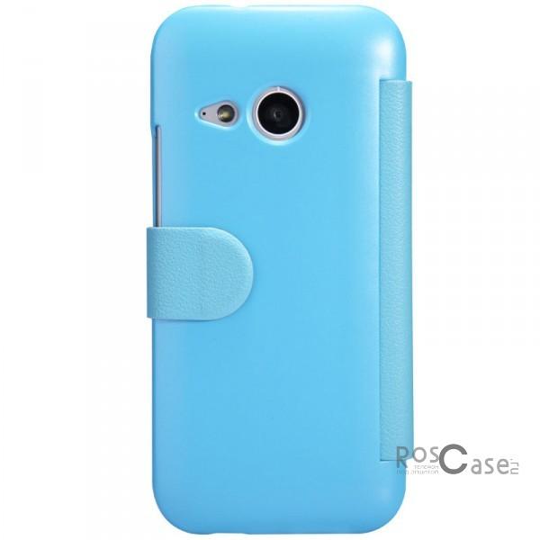 Кожаный чехол (книжка) Nillkin Fresh Series для HTC One mini 2 (Голубой)Описание:Изготовлен компанией Nillkin;Спроектирован персонально для HTC One One mini 2;Материал: синтетическая высококачественная кожа и поликарбонат;Форма: чехол в виде книжки.Особенности:Исключается появление царапин и возникновение потертостей;Восхитительная амортизация при любом ударе;Фактурная поверхность;Не подвергается деформации;Непритязателен в уходе.<br><br>Тип: Чехол<br>Бренд: Nillkin<br>Материал: Искусственная кожа