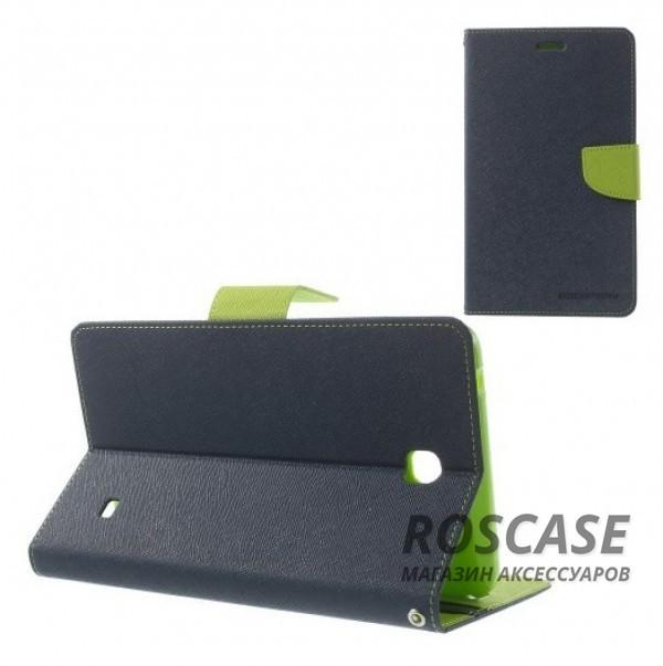 Чехол (книжка) Mercury Fancy Diary series для Samsung Galaxy Tab 4 7.0 (Синий / Зеленый)Описание:производитель  -  бренд&amp;nbsp;Mercury;совместим с Samsung Galaxy Tab 4 7.0;материалы  -  искусственная кожа, термополиуретан;форма  -  чехол-книжка.&amp;nbsp;Особенности:рельефная поверхность;все функциональные вырезы в наличии;внутренние кармашки;магнитная застежка;защита от механических повреждений;трансформируется в подставку.<br><br>Тип: Чехол<br>Бренд: Mercury<br>Материал: Искусственная кожа