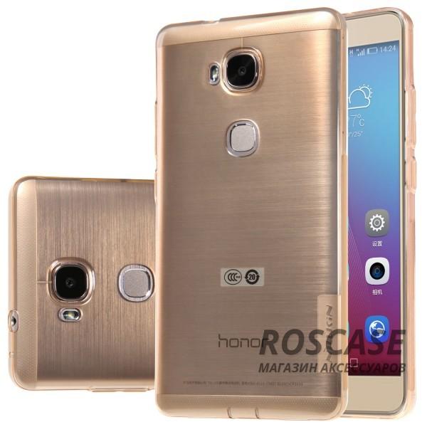 Мягкий прозрачный силиконовый чехол для Huawei Honor 5X / GR5 (Золотой (прозрачный))Описание:производитель  - &amp;nbsp;Nillkin;совместимость: Huawei Honor X5 / GR5;материал  -  термополиуретан;форма  -  накладка.&amp;nbsp;Особенности:в наличии все вырезы;прозрачный;не увеличивает габариты;защита от ударов и царапин;на накладке не видны &amp;laquo;пальчики&amp;raquo;.<br><br>Тип: Чехол<br>Бренд: Nillkin<br>Материал: TPU