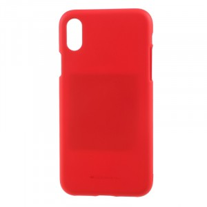 "Гибкий матовый защитный чехол Mercury Soft Feeling Jelly с поверхностью Soft-Touch для Apple iPhone X (5.8"")"