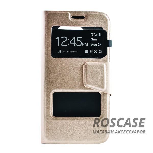 Чехол (книжка) с TPU креплением для Samsung G925F Galaxy S6 Edge (Золотой)Описание:производитель - бренд&amp;nbsp;Epik;разработан для Samsung G925F Galaxy S6 Edge;материал: искусственная кожа;тип: чехол-книжка.&amp;nbsp;Особенности:имеются функциональные вырезы;магнитная застежка;защита от ударов и падений;окошко в обложке;ответ на вызов через обложку;не скользит в руках.<br><br>Тип: Чехол<br>Бренд: Epik<br>Материал: Искусственная кожа