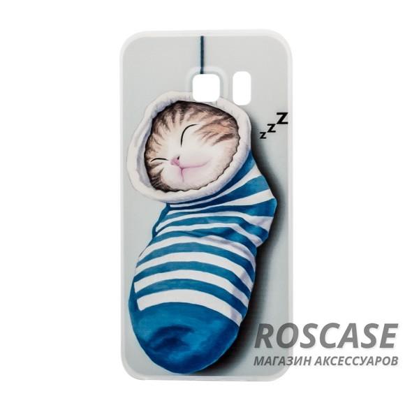 Тонкий силиконовый чехол с принтом Милые котята для Samsung G925F Galaxy S6 Edge (Котенок в носке)Описание:совместимость  -  смартфон Samsung G925F Galaxy S6 Edge;материал  -  силикон;форм-фактор  -  накладка.Особенности:интересный дизайн;высокая прочность и износостойкость;не подвергается деформации;имеет все функциональные вырезы;не скользит в руках.<br><br>Тип: Чехол<br>Бренд: Epik<br>Материал: TPU