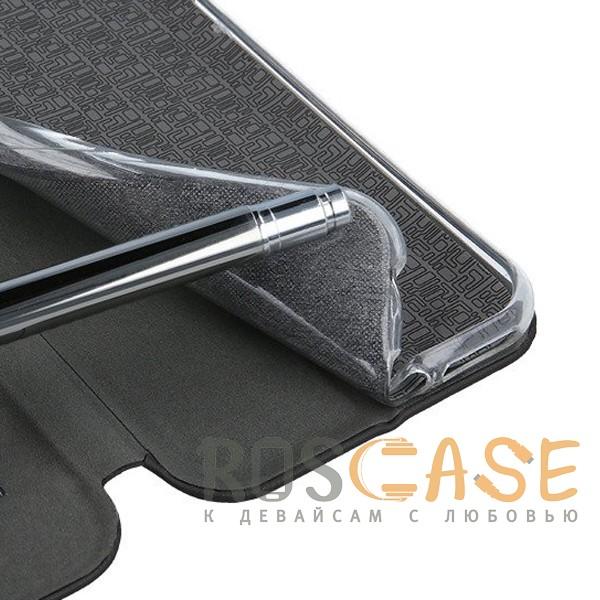 Фотография Темно-синий  Open Color 2 | Чехол-книжка на магните для Huawei Y5 (2018) / Y5 Prime (2018) с подставкой и внутренним карманом