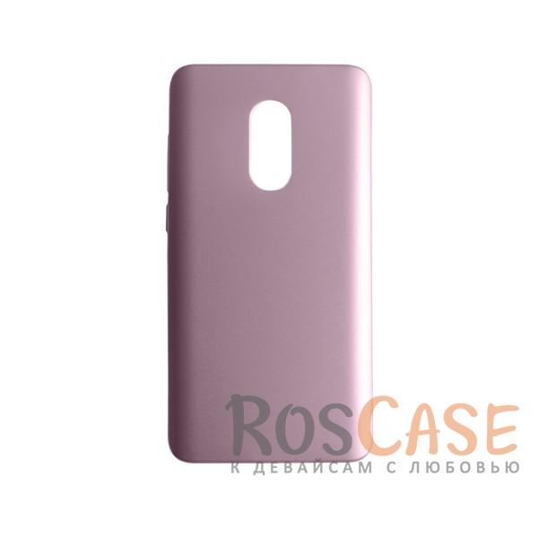 Пластиковая накладка soft-touch с защитой торцов Joyroom для Xiaomi Redmi Note 4 (Розовый)<br><br>Тип: Чехол<br>Бренд: Epik<br>Материал: Пластик