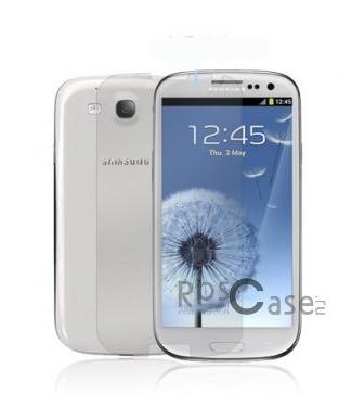 Защитная пленка Nillkin Crystal для Samsung i9300 Galaxy S3/S3 duos i9300i (Анти-отпечатки)Описание:компания-производитель  -  Nillkin;произведена для Samsung i9300 Galaxy S3/S3 duos i9300i;при производстве применяется высококачественное сырье;пленка тонкая и полностью прозрачная.Особенности:на поверхности пленки не остаются ни отпечатки пальцев, ни жирные следы;пленка не влияет на характеристики экрана, быстродействие и цветопередача не изменяются;легко очищается и не требует особого ухода.<br><br>Тип: Защитная пленка<br>Бренд: Nillkin