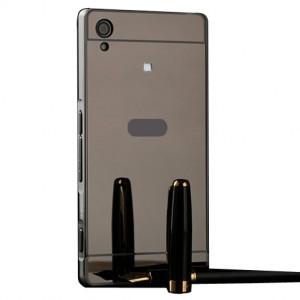 Металлический бампер для Sony Xperia XA1 / XA1 Dual с зеркальной вставкой