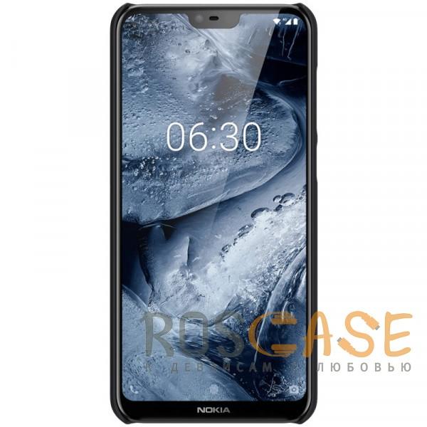 Изображение Черный Nillkin Super Frosted Shield | Матовый чехол для Nokia 6.1 Plus (Nokia X6)