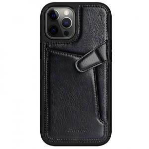 Nillkin Aoge Leather | Чехол с визитницей из Premium экокожи  для iPhone 12 / 12 Pro