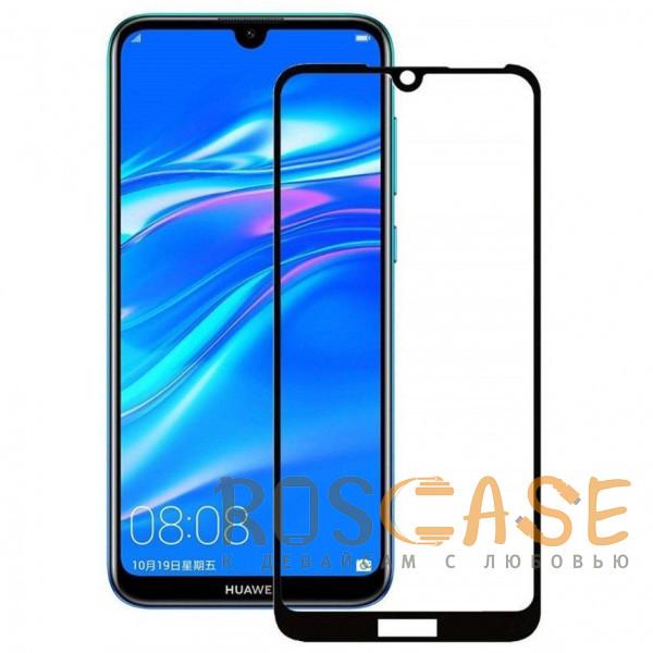 Фото Черный Защитное стекло 5D Full Cover для Huawei Y7 (2019) / Huawei Y7 Prime (2019)
