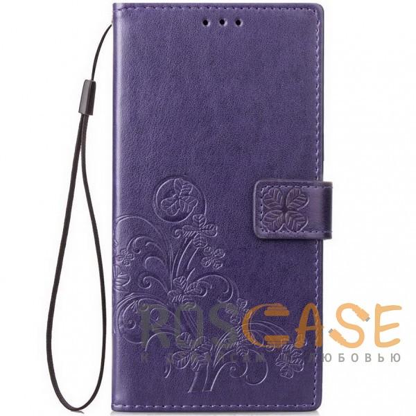 Фото Фиолетовый Чехол-книжка с узорами на магнитной застёжке для Xiaomi Redmi Note 5 Pro / Note 5 (DC)