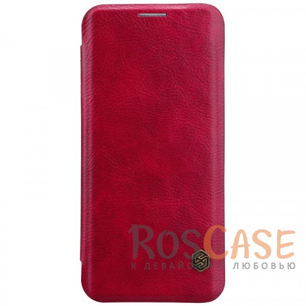 Чехол-книжка Nillkin Qin из натуральной кожи для Samsung Galaxy S9 Plus (Красный)Описание:разработан для Samsung Galaxy S9 Plus;материалы: натуральная кожа, поликарбонат;защищает гаджет со всех сторон;на аксессуаре не заметны отпечатки пальцев;карман для визиток;предусмотрены все необходимые вырезы;тонкий дизайн не увеличивает габариты девайса;тип: чехол-книжка.<br><br>Тип: Чехол<br>Бренд: Nillkin<br>Материал: Натуральная кожа