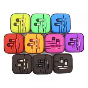 JX | Металлические наушники с плетеным проводом и пультом