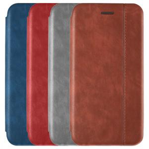 Open Color 2   Кожаный чехол-книжка для Xiaomi Redmi Note 8 Pro с магнитом и подставкой
