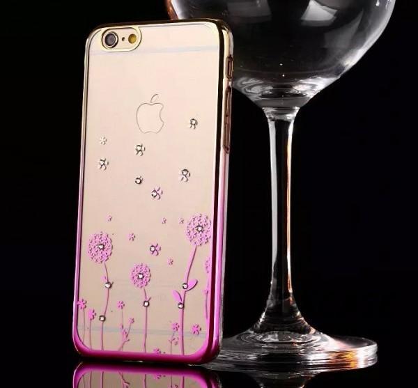Пластиковая накладка Nice со стразами для Apple iPhone 6/6s (4.7) (Цветы / золотой / розовый)Описание:производитель: Epik;совместимость: смартфон Apple iPhone 6/6s (4.7);материал: пластик;тип изделия: накладка.Особенности:оригинальный дизайн;украшен стразами;не деформируется;механизм легкой фиксации;легкая очистка.<br><br>Тип: Чехол<br>Бренд: Epik<br>Материал: TPU