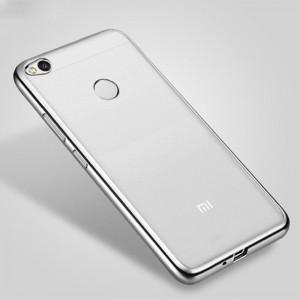 Силиконовый чехол для Xiaomi Redmi 4X с глянцевой окантовкой