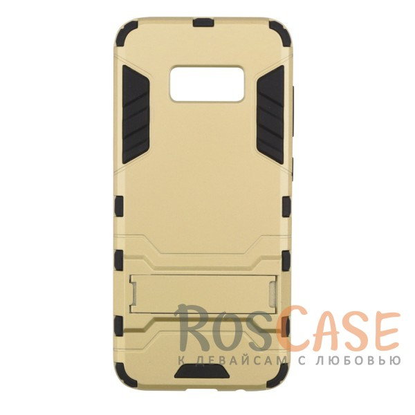 Ударопрочный чехол-подставка Transformer для Samsung G955 Galaxy S8 Plus с мощной защитой корпуса (Золотой / Champagne Gold)Описание:чехол разработан для Samsung G955 Galaxy S8 Plus;материалы - термополиуретан, поликарбонат;тип - накладка;функция подставки;защита от ударов;прочная конструкция;не скользит в руках.<br><br>Тип: Чехол<br>Бренд: Epik<br>Материал: Пластик