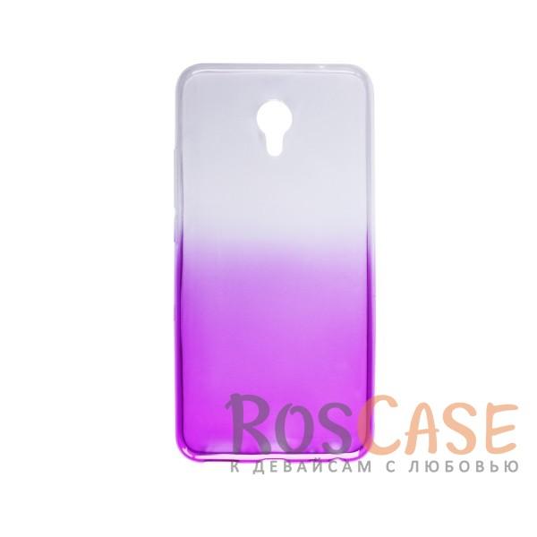 Фотография Фиолетовый Прозрачный TPU чехол с цветным градиентом для Meizu MX6