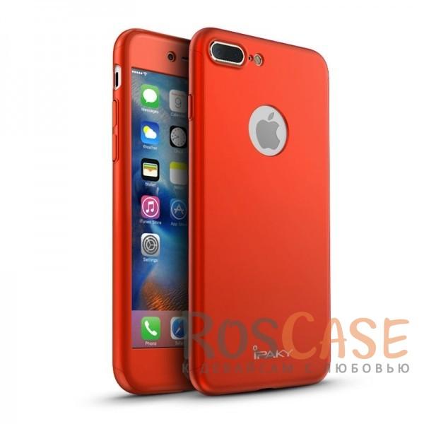 Чехол iPaky 360 градусов для Apple iPhone 7 plus (5.5) (+ стекло на экран) (Красный)Описание:производитель: iPaky;совместим с Apple iPhone 7 plus (5.5);материалы для изготовления: поликарбонат и каленое стекло;форм-фактор: накладка.Особенности:надежная защита: чехол, бампер, стекло;высокий уровень износостойкости и прочности;ультратонкий, не увеличивает визуально объем;легко фиксируется;легко очищается.<br><br>Тип: Чехол<br>Бренд: Epik<br>Материал: Пластик