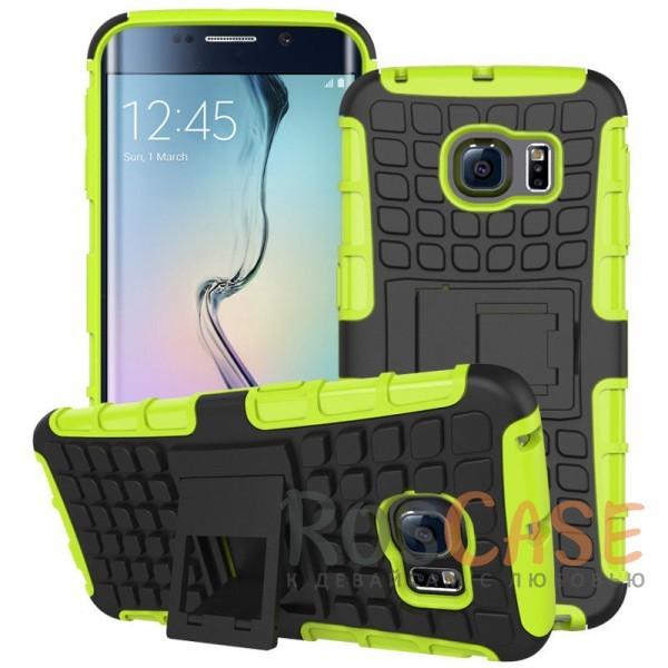 Противоударный двухслойный чехол Shield для Samsung G925F Galaxy S6 Edge с подставкой (Зеленый)Описание:разработан специально для Samsung G925F Galaxy S6 Edge;материалы: поликарбонат, термополиуретан;тип: накладка.&amp;nbsp;Особенности:двухслойный;ударопрочный;оригинальный дизайн;стильный дизайн;в наличии все функциональные вырезы;функция подставки.<br><br>Тип: Чехол<br>Бренд: Epik<br>Материал: TPU