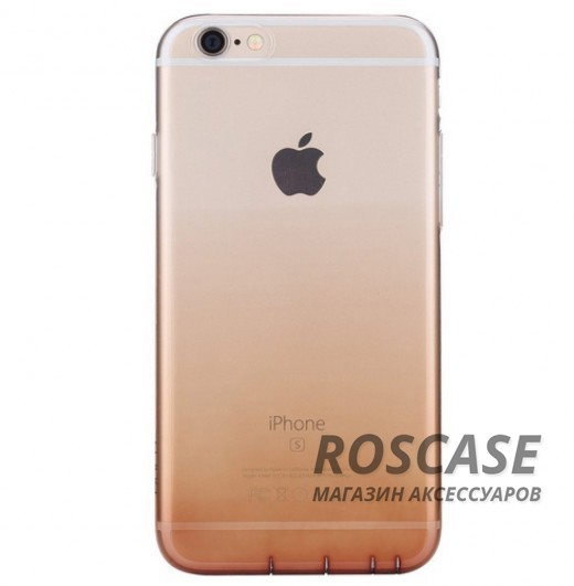TPU чехол ROCK Iris series для Apple iPhone 6/6s plus (5.5) (Золотой / Transparent Gold)Описание:производитель - Rock;материал  -  термополиуретан;поверхность  -  гладкая;форм-фактор  -  накладка;совместимость - Apple iPhone 6/6s plus (5.5)Особенности:прочный и износоустойчивый;не подвергается деформации.легко фиксируется;не скользит в руках.<br><br>Тип: Чехол<br>Бренд: ROCK<br>Материал: TPU