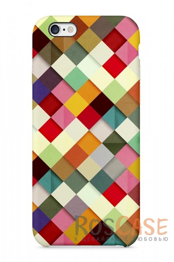 """Фото Разноцветье Пластиковый чехол RosCase """"Узоры"""" для iPhone 6/6s (4.7"""")"""