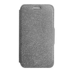 Стильный блестящий защитный чехол-книжка Gresso для смартфона с диагональю 4,9-5,2 дюйма